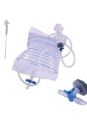 Zestaw do punkcji jamy opłucnej (paracentezy) z kranikiem, 3 igły - 1kpl