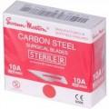 Skalpel - ostrze ze stali węglowej, sterylne Swann Morton nr 10A, 100szt/op