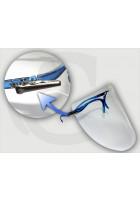Przyłbica ochronna Comfort Relax BIAŁA (4szybki, okulary, krokodylki) 1kpl