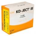 """Strzykawka insulinowa KD-JECT III 1ml U100 z igłą wtopioną 29Gx1/2"""" / 0,33x12mm 100szt/op 831755"""